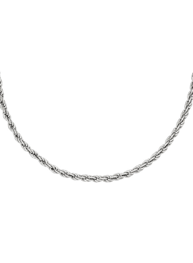 Valentine twisted chain necklace - Silver