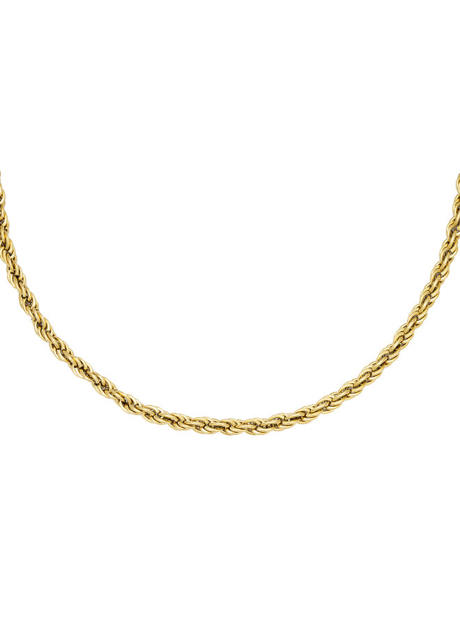 Valentine twisted chain necklace - Gold