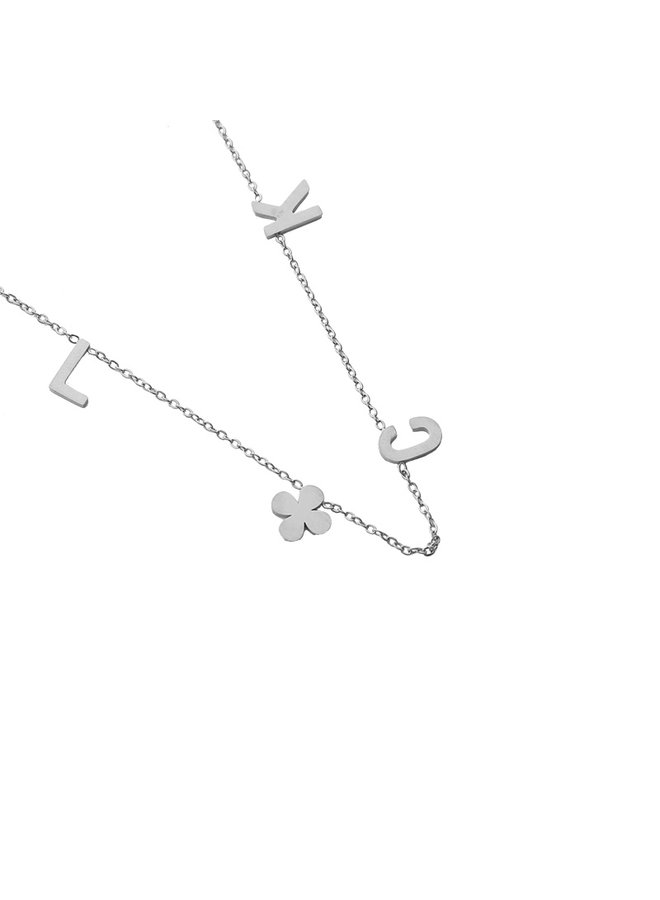 Beau luck necklace - Silver