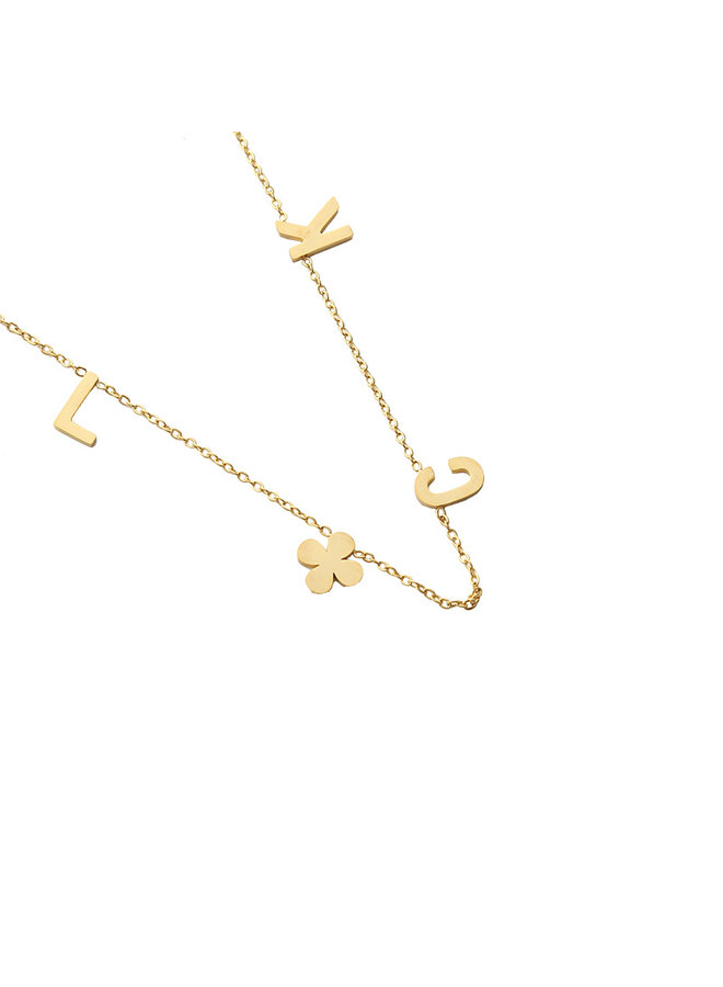 Beau luck necklace - Gold