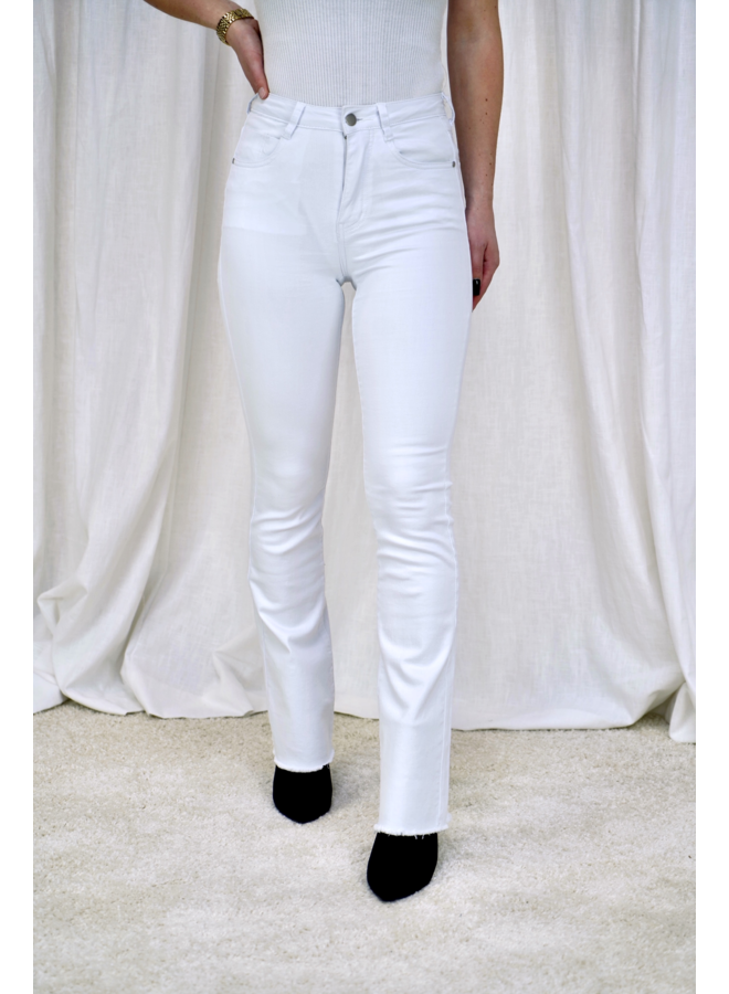 Jacky flared jeans - white