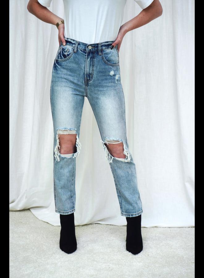 Lissa mom jeans - blue