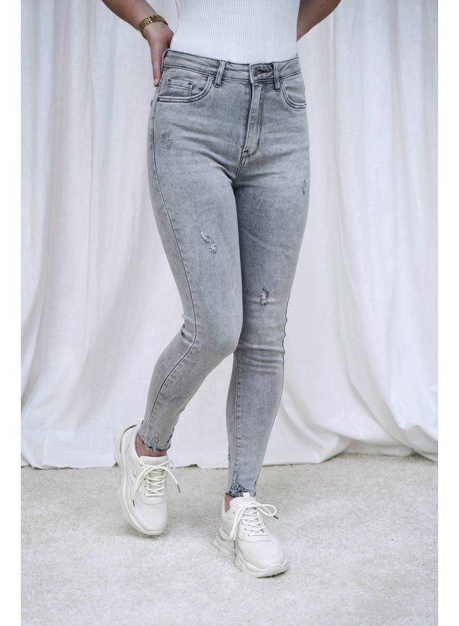 Mandy skinny jeans - light grey
