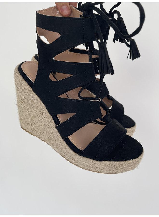 Malin wedges - black