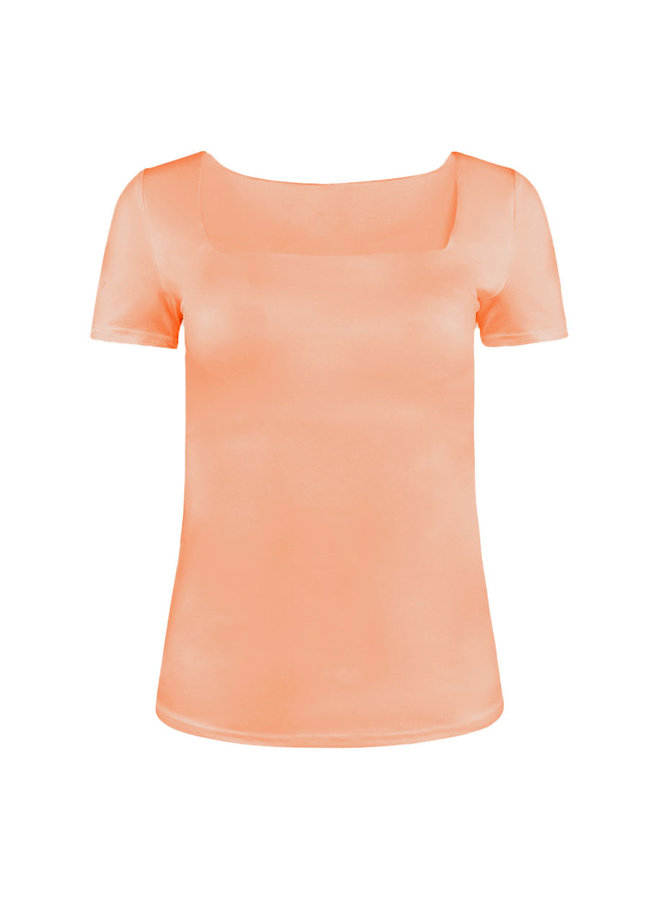 Shenell squared neck top - peach