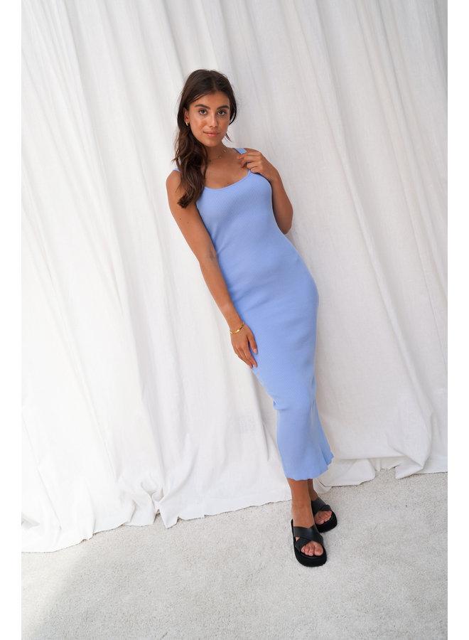 Charline rib dress - blue