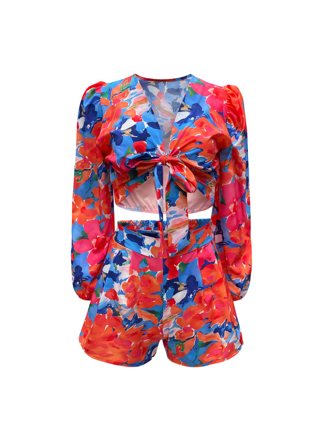 Lizzy flower two piece - red