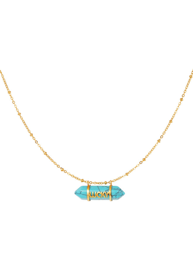 Xania necklace - gold / turquoise