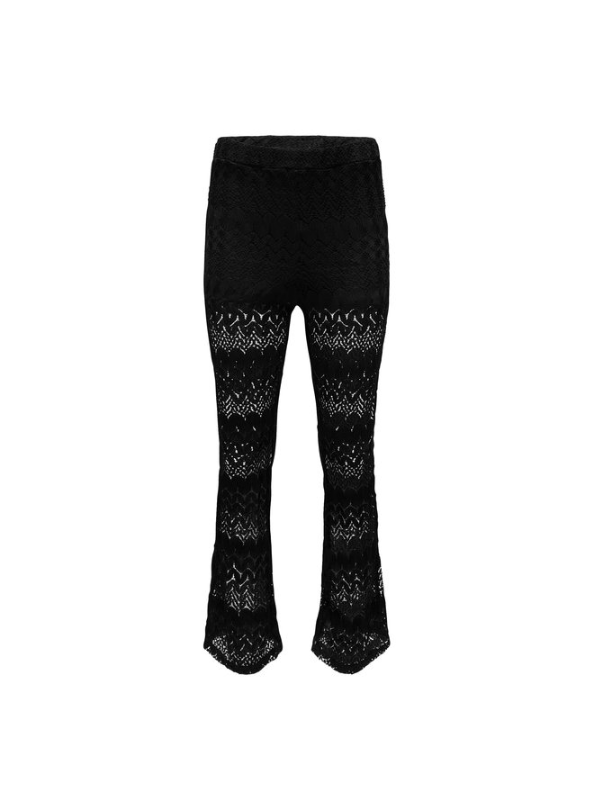 Luck flared pants - black
