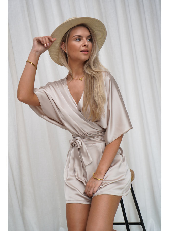 Eef satin two piece - creme