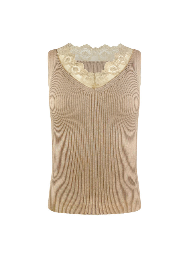 Becky lace top - taupe