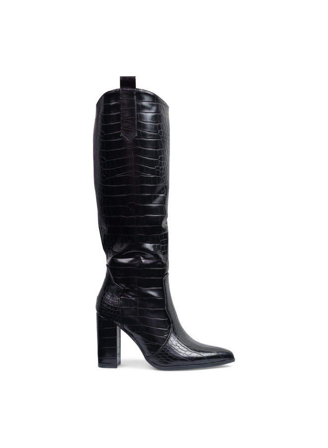 Pam croco heels - black