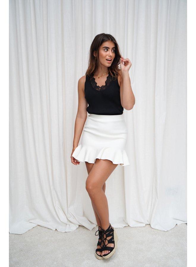 Bibi ruffle skirt - white