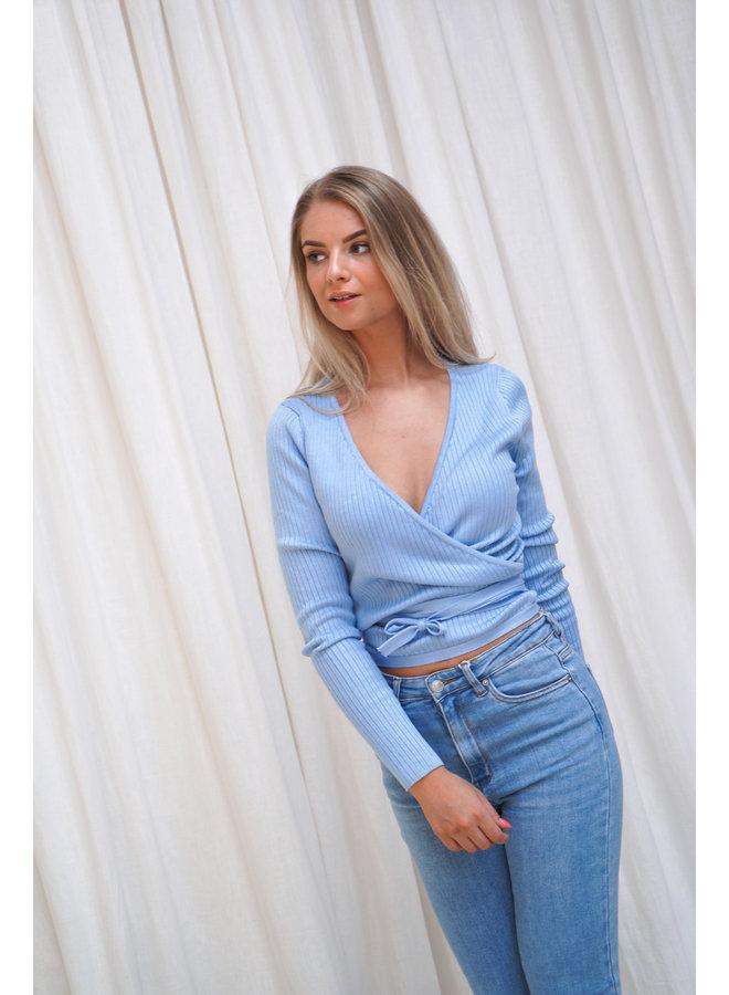 Gigi wikkeltop - blue