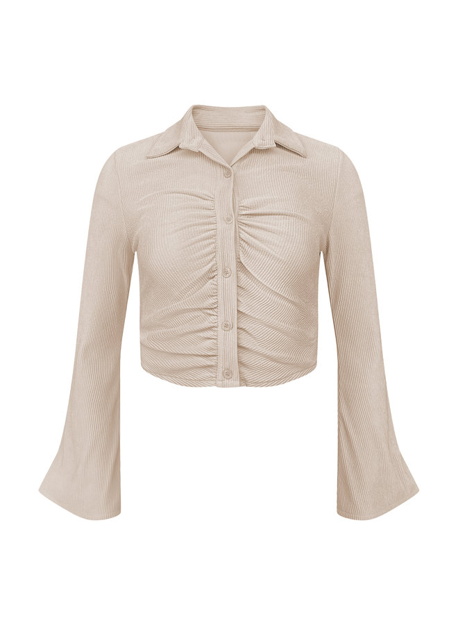 Marly cropped top - beige