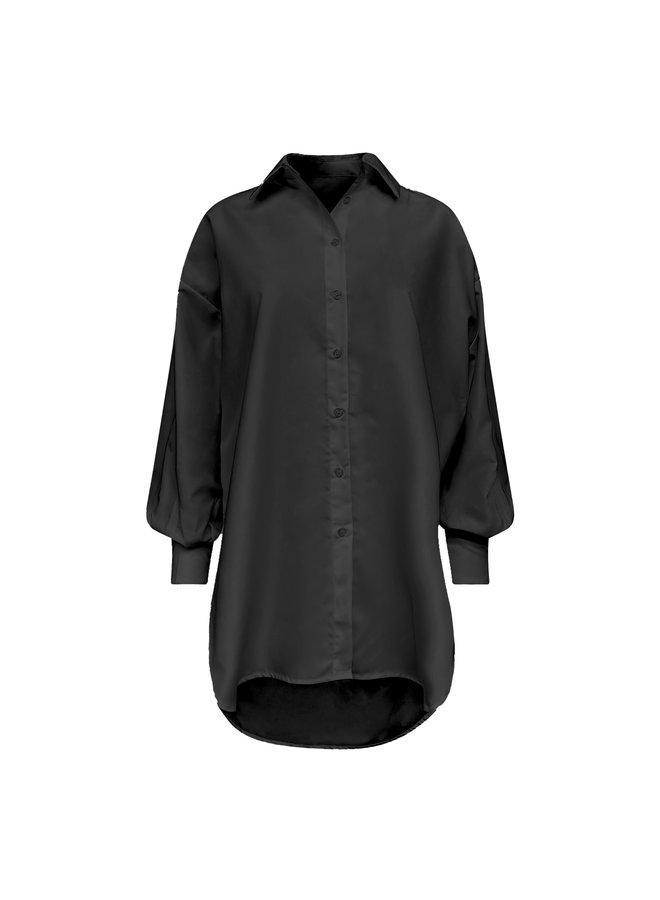 Tess oversized blouse - zwart