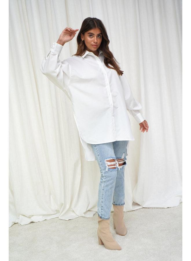 Tess oversized blouse - wit