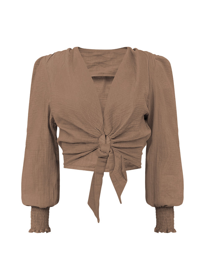 Cato cropped top - camel