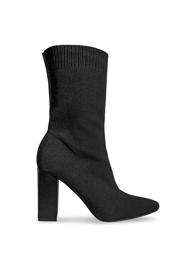 Lilly sock heels - zwart