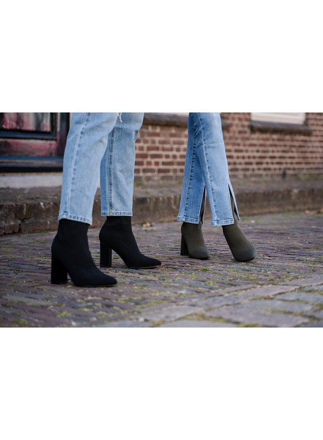 Lilly sock heels - groen