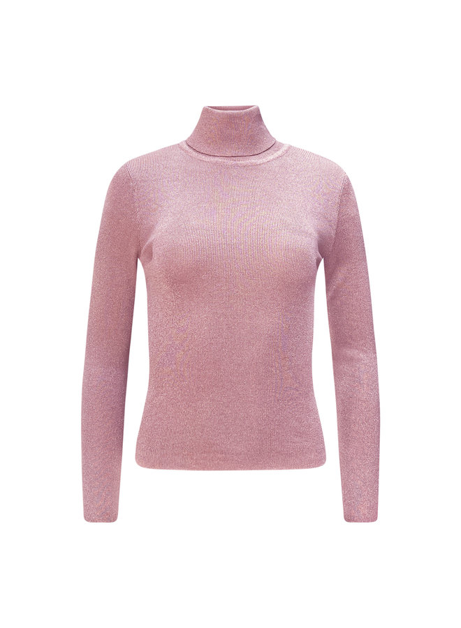 Roos glitter col - roze
