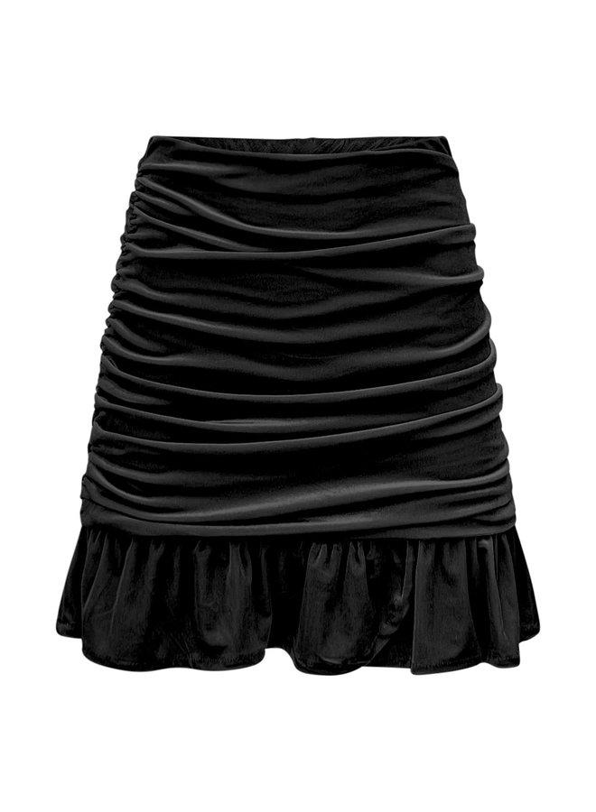 Loes velvet rokje- zwart