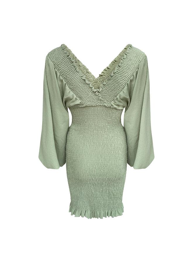Giny smock jurk- groen