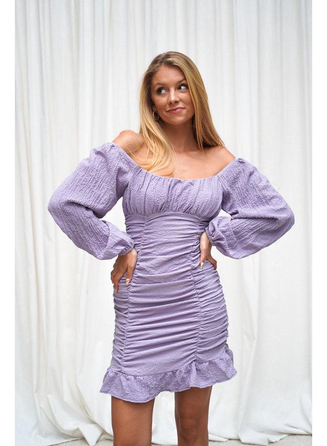 Blom jurk- paars