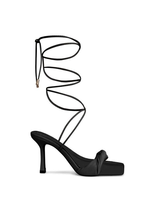 Bo strik heels - zwart