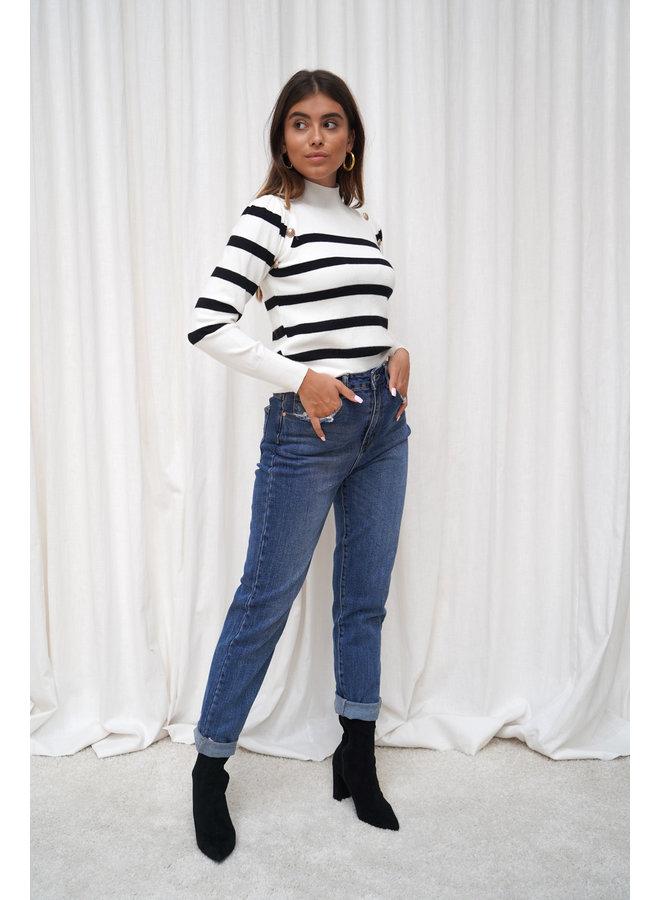Juul mom jeans - donkerblauw