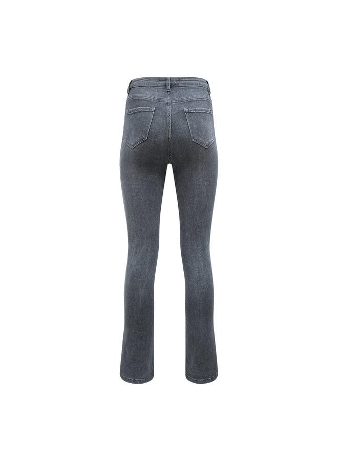 Emma split jeans - grijs