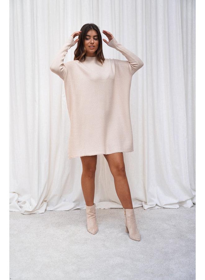 Vina knit jurk - beige