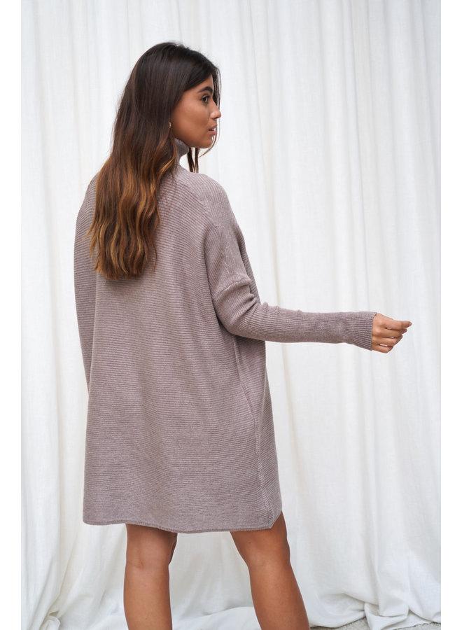 Faya coltrui jurk - donker taupe