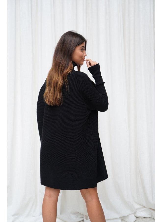 Faya coltrui jurk - zwart