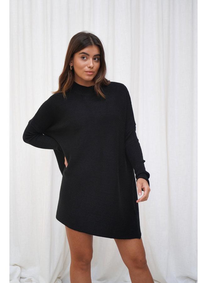 Vina knit jurk - zwart