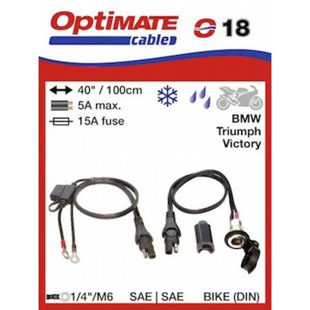 Tecmate Optimate Compacte DIN-ingang voor motorstekker O18
