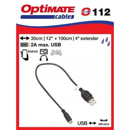 Tecmate Oplaadkabel O112 verloop USB naar USB Micro - inclusief verlengkabel