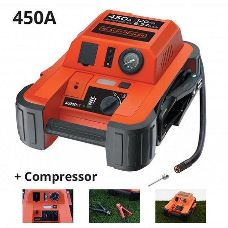Black & Decker Jumpstarter en compressor BDJS450i 12V - 450A