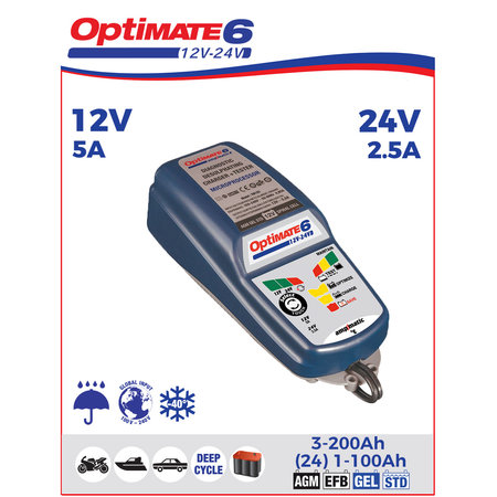 Tecmate Optimate 6 Ampmatic 12V/24V