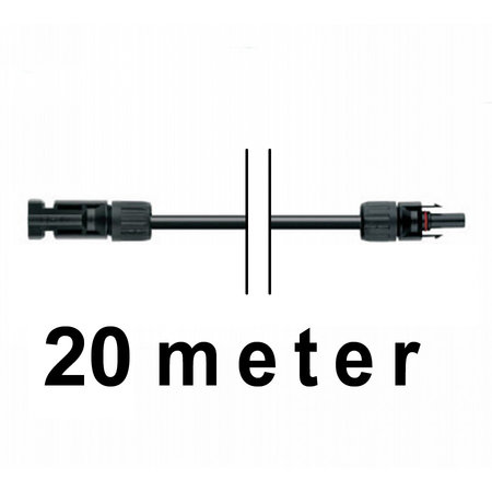 TopSolar kabel 6mm² 20m MC4 male/female