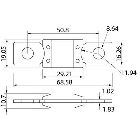 Victron Zekering 150A MEGA (12V-24V)