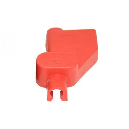 Accupool afdekkap voor accuklem rood (+)