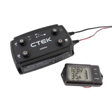 CTEK D250S DUAL DC-DC acculader + Monitor/ Display