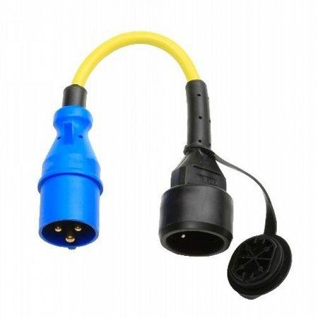 Ratio Verloopstekker/ adapter 1 fase CEE 16A naar schuko