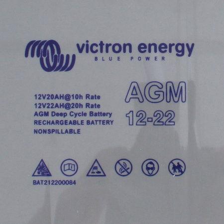 Victron AGM 12V/22Ah Deep Cycle Accu/ Batterij