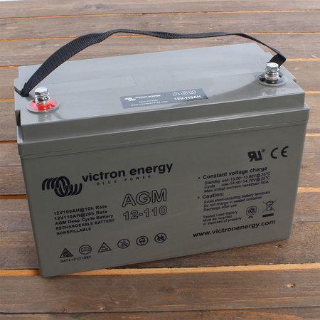 Victron AGM 12V/110Ah Deep Cycle Accu/ Batterij - M8 insert