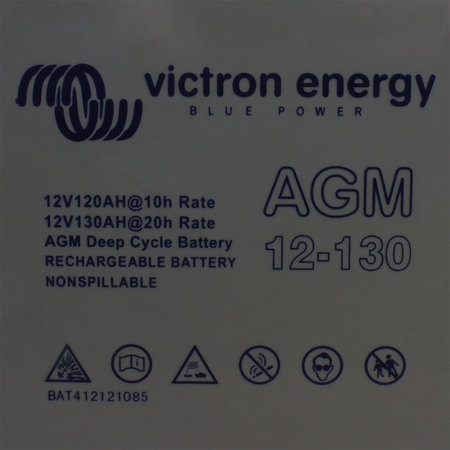 Victron AGM 12V/130Ah Deep Cycle Accu/ Batterij - M8 insert