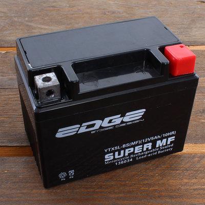 Edge Accu YTX5L-BS (MF) 12V 5Ah (11 x 7 x 8,5 cm)