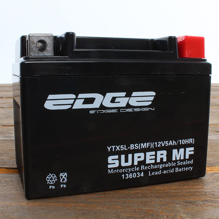 Edge Super MF Accu YTX5L-BS (MF) 12V 5Ah - Gel (11 x 7 x 8,5 cm)
