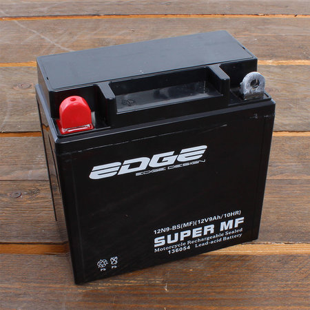 Edge Super MF Accu 12N9-BS (MF) YB9B 12V 9Ah - Gel (13,6 x 7,5 x 13,5 cm)